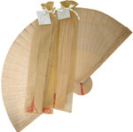 NEW! Sandalwood Fan with Organza Bag