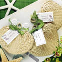NEW! Tropical Wedding Fans - Buri Buri Straw Fans (Medium Size)