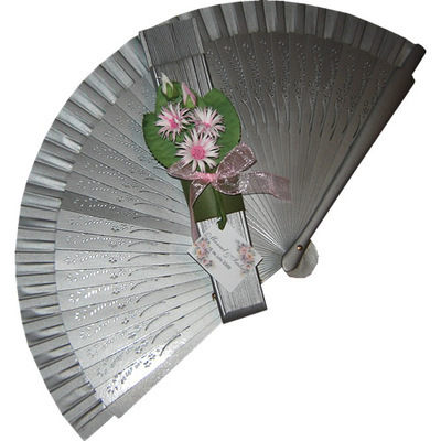 Silver Decorated Wedding Fan Margarita