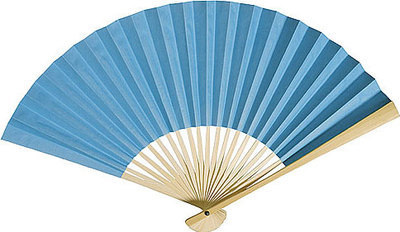 CLEARANCE SALE - Turquoise Paper Hand Fan