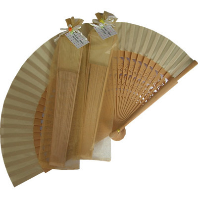 Wedding Fan with Carved Ribs (Dolphins + Organza)