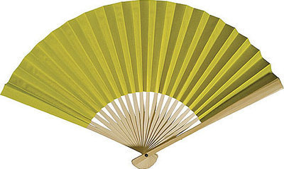 CLEARANCE SALE - Chartreuse Paper Hand Fans