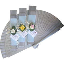 Silver Decorated Wedding Fan