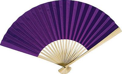 Purple Paper Hand Fans