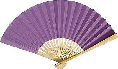 Lilac Paper Hand Fans