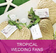 <!-- 009 --> Tropical Wedding Fans