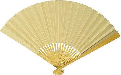 Cream / Ivory Paper Hand Fan