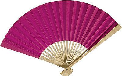 Fuchsia Paper Hand Fan