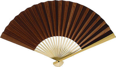 Chocolate Brown Paper Fans