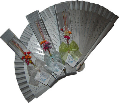 Silver Decorated Wedding Fan Ladies First