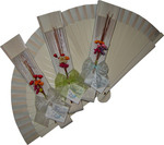 White Decorated Wedding Fan Ladies First