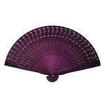 Purple Sandalwood Fans