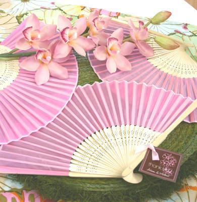 Pink Silk Fans