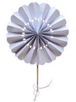 White Flower Paper Fans (packs of 10)