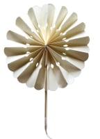 Ivory Flower Paper Fans (packs of 10)
