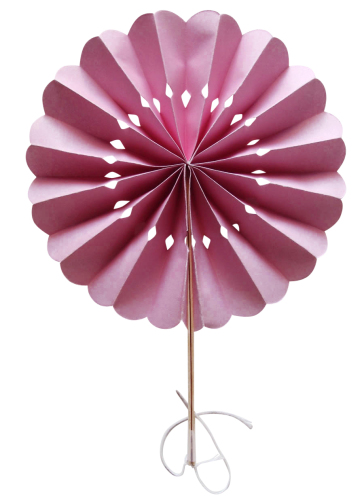 Pink Flower Paper Fans (packs of 10)