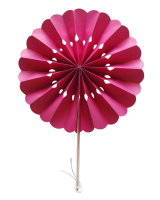 Dark Pink Flower Paper Fans (packs of 10)