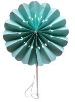 Mint Flower Paper Fans (packs of 10)