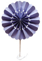 Lavender Flower Paper Fans (packs of 10)