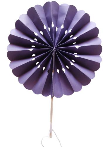 Purple Flower Paper Fans (packs of 10)