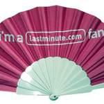 Fabric Fan with Plastic Handle
