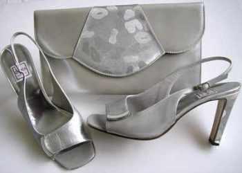 902fb7f44c8 Renata shoes matching bag silver grey peeptoeSize 5.5