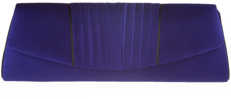 Jacques Vert cobalt blue pleated clutch with shoulder chain