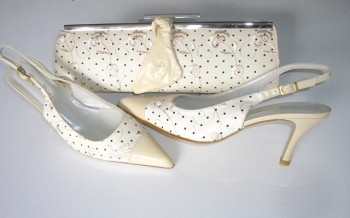 Capollini designer shoes matching clutch beige /peach mother bride size 4