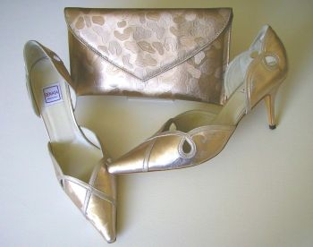 Renata shoes matching clutch bag blush size7 to 7.5 mother bride