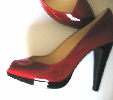 magrit red patent heel