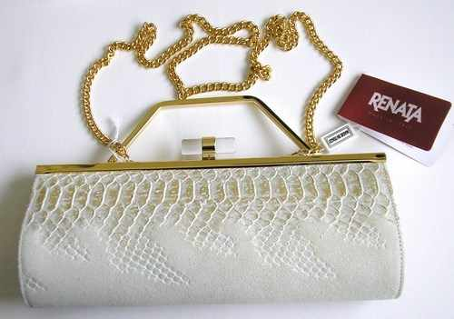Renata beige gold bag belladonna