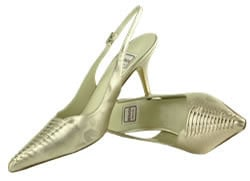 Renata designer shoes  Champagne.mother bride Size 8
