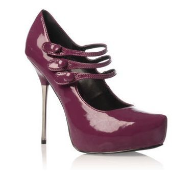 "Carvela designer shoes ""Adelphie""platform purple size 6.5-7"