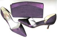 Jacques Vert shoes matching bag Plum size 7