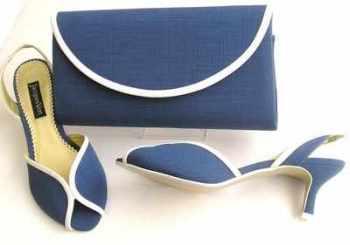 Jacques Vert designer shoes matching bag ocean blue.size 4