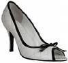 Carvela  Kurt Geiger shoes white black trim peeptoe size 7