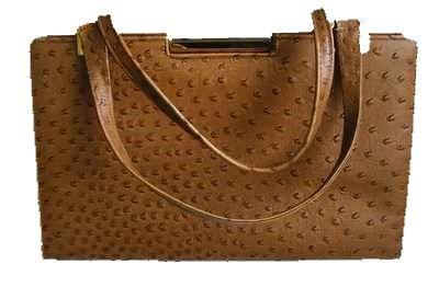 Ackery designer ostrich leather shoulder bag vintage