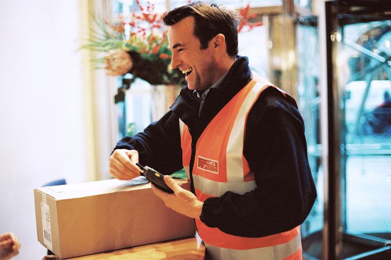 parcelforce delivery man