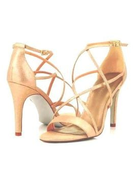 Jacques Vert strappy gold glitter heels size 6  also size 8