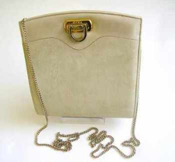 Gina evening bag soft grey small shoulder clutch bag