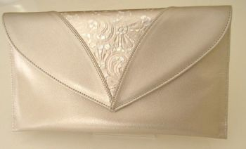 Renata designer evening bag  champagne pale  gold