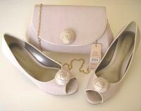 Jacques Vert shoes matching bag neutral matching bag rosebud feature size 3 & size 7