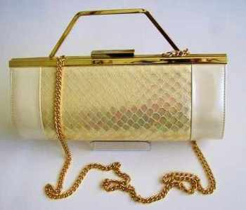 Renata designer evening bag 3 way pearlized  ivory