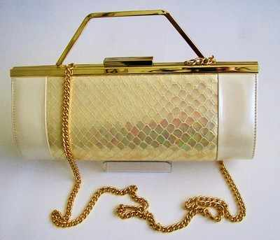 Designer evening bag Renata 3 way pearlized  ivory