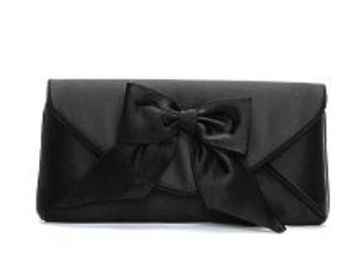 Dents designer clutch bag black satin evening  occasions bag