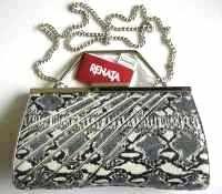 Renata designer bag grey cream black.silver new