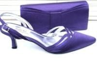 Jacques Vert purple Viola shoes matching bag mother bride size 4 also in si