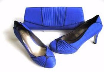 Jacques Vert shoes  matching bag in Cobalt Blue Black trim size 6
