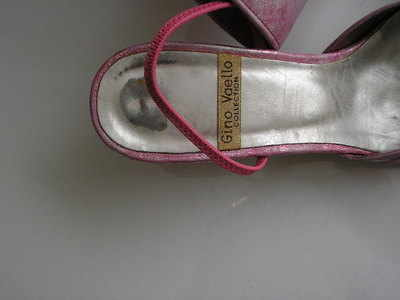 Gino Vaello pink shoes bag size 6.5 003