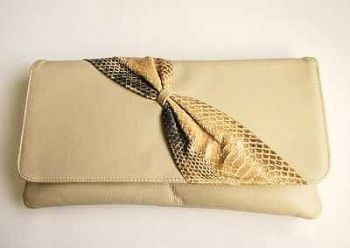 Adrian Gold large clutch bag beige leather